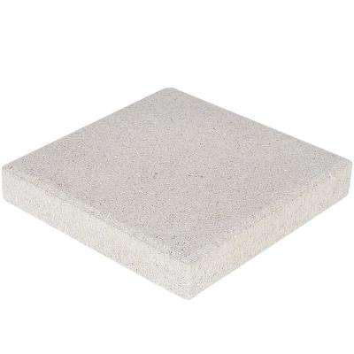 12 in. x 12 in. x 1.57 in. White Concrete Step Stone (168-Pieces/168 sq. ft./Pallet)