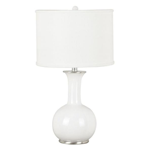 Kenroy Home Mimic 25 in. White Table Lamp