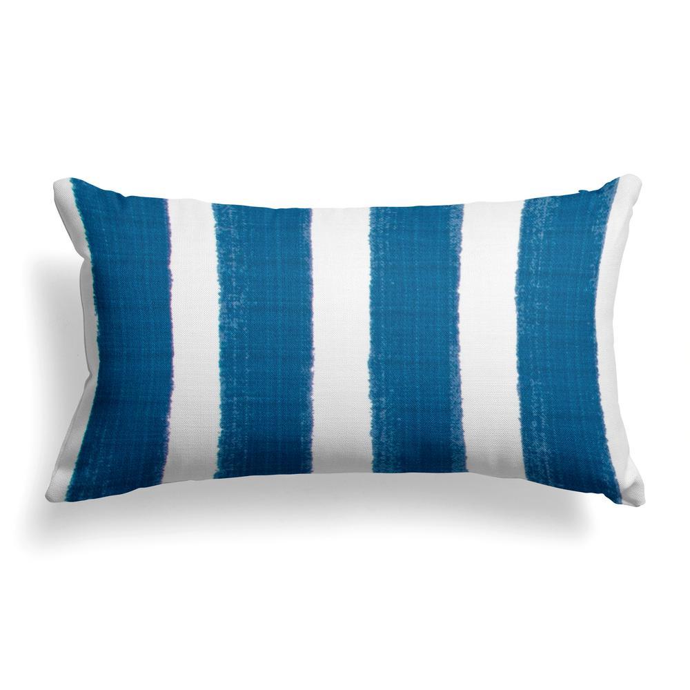 Caravan Navy Rectangular Lumbar Outdoor Pillow