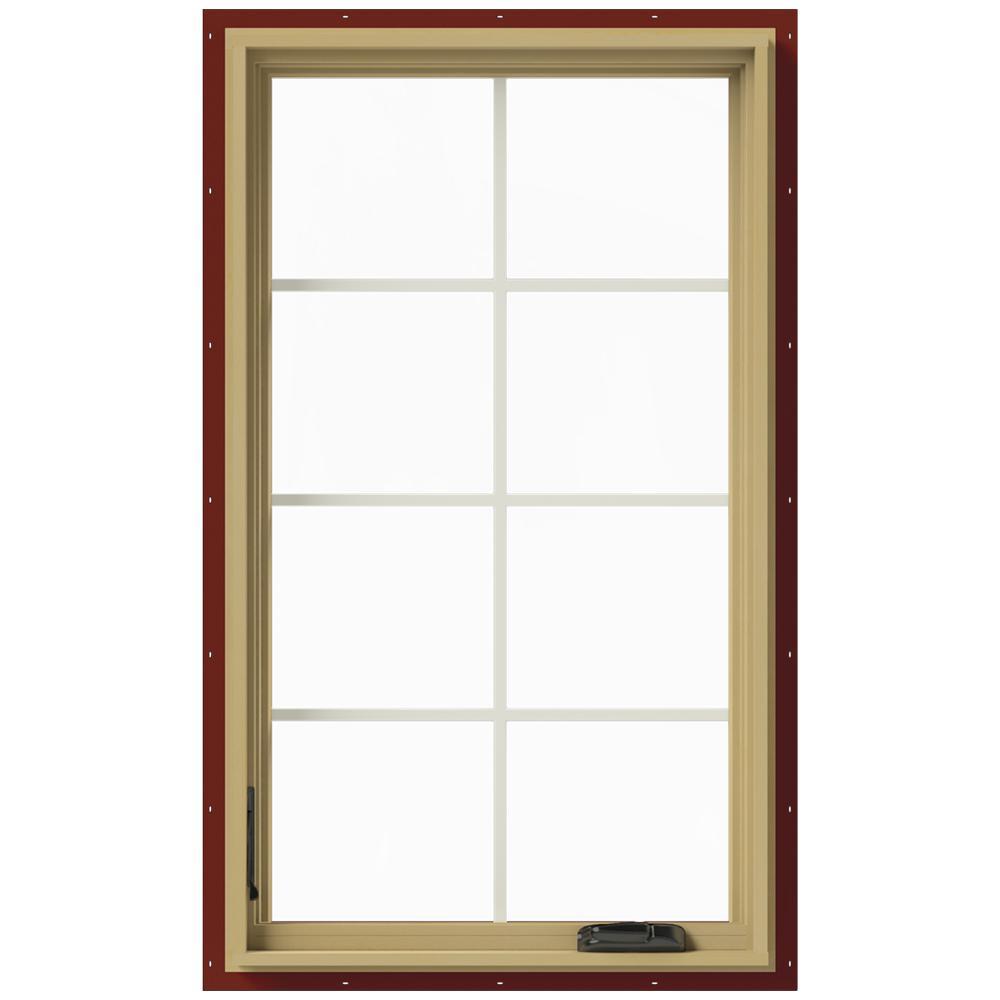 28 in. x 48 in. W-2500 Left-Hand Casement Aluminum Clad Wood Window