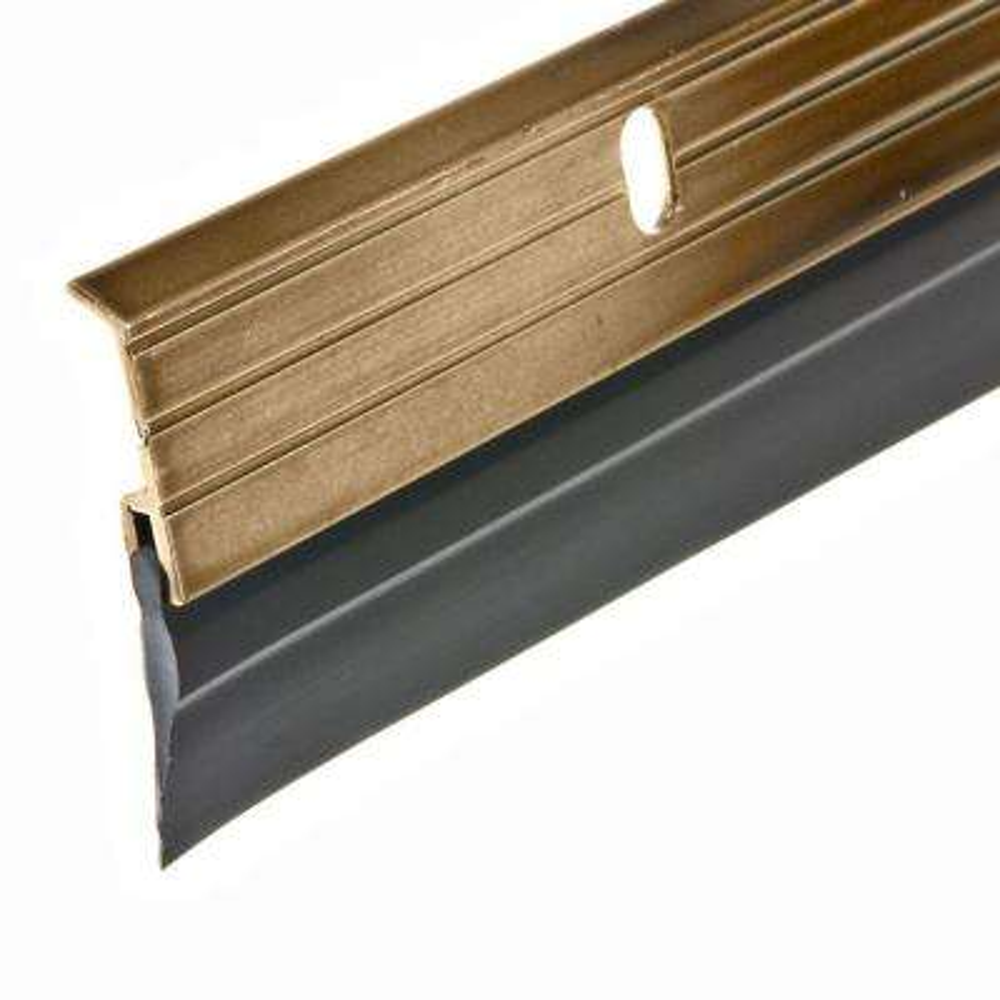 E/O 1-5/8 in. x 36 in. Aluminum Antique Oil Rubbed and Vinyl Door Sweep