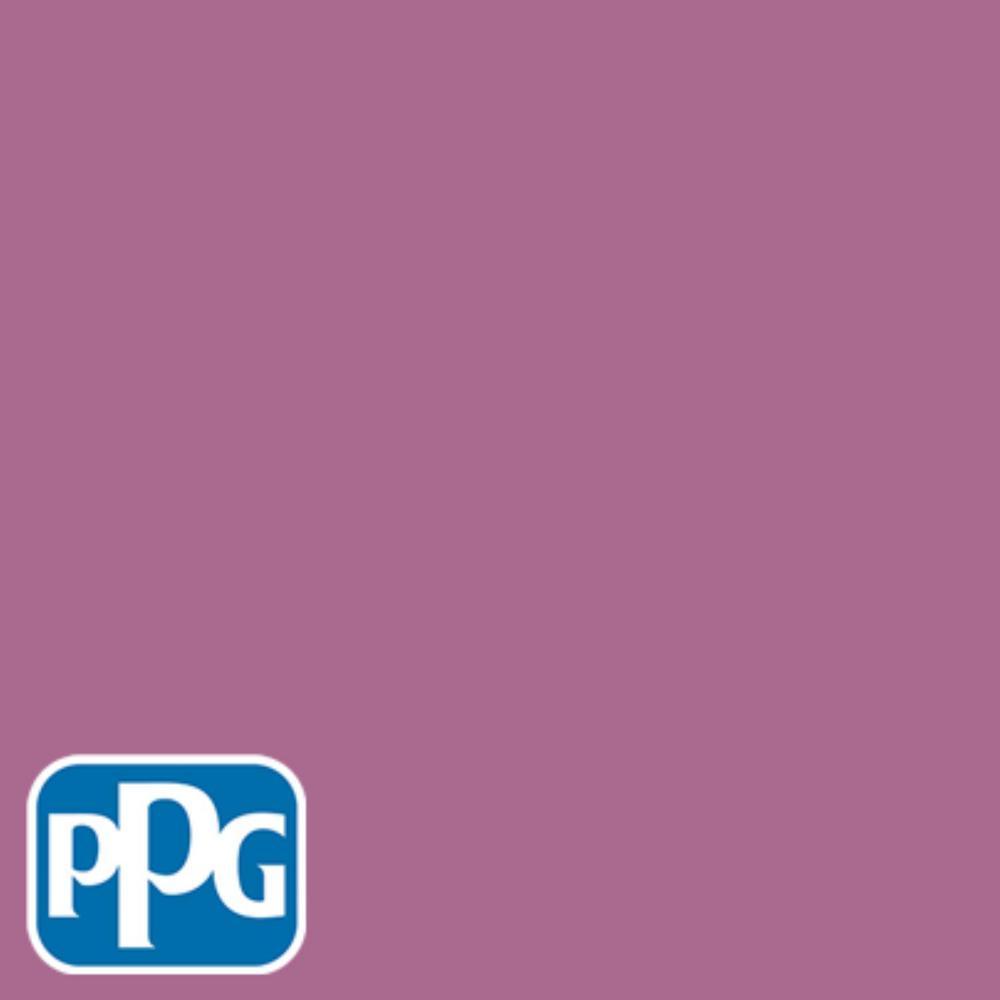 PPG TIMELESS 8 oz. #HDPPGR07U Pink Zinnia Bloom Flat Interior/Exterior Paint Sample