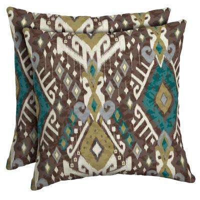 16 x 16 Tenganan Square Outdoor Throw Pillow (2-Pack)