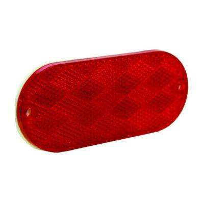 Reflector 4-3/8 in. Self Mount Oblong Red (2 per Pack)