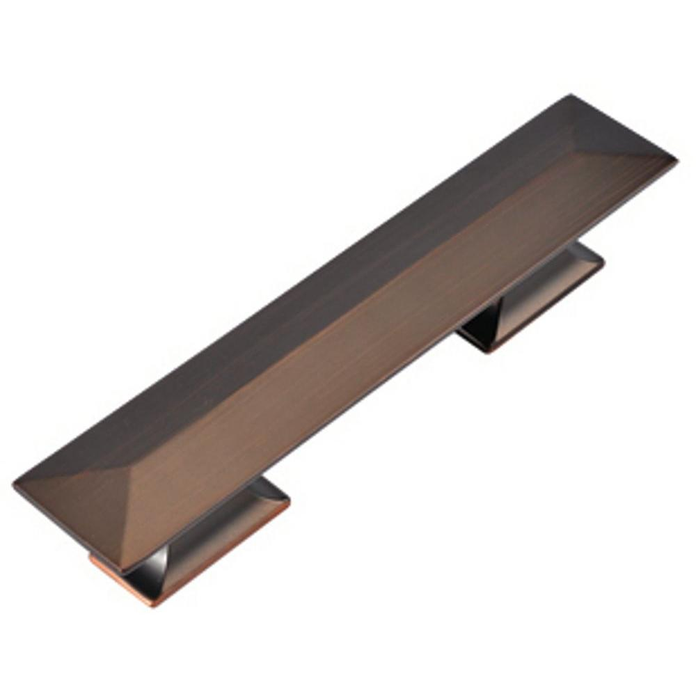 Hickory Hardware 3 in. and 96 mm Bungalow Refined Bronze Cabinet Pull