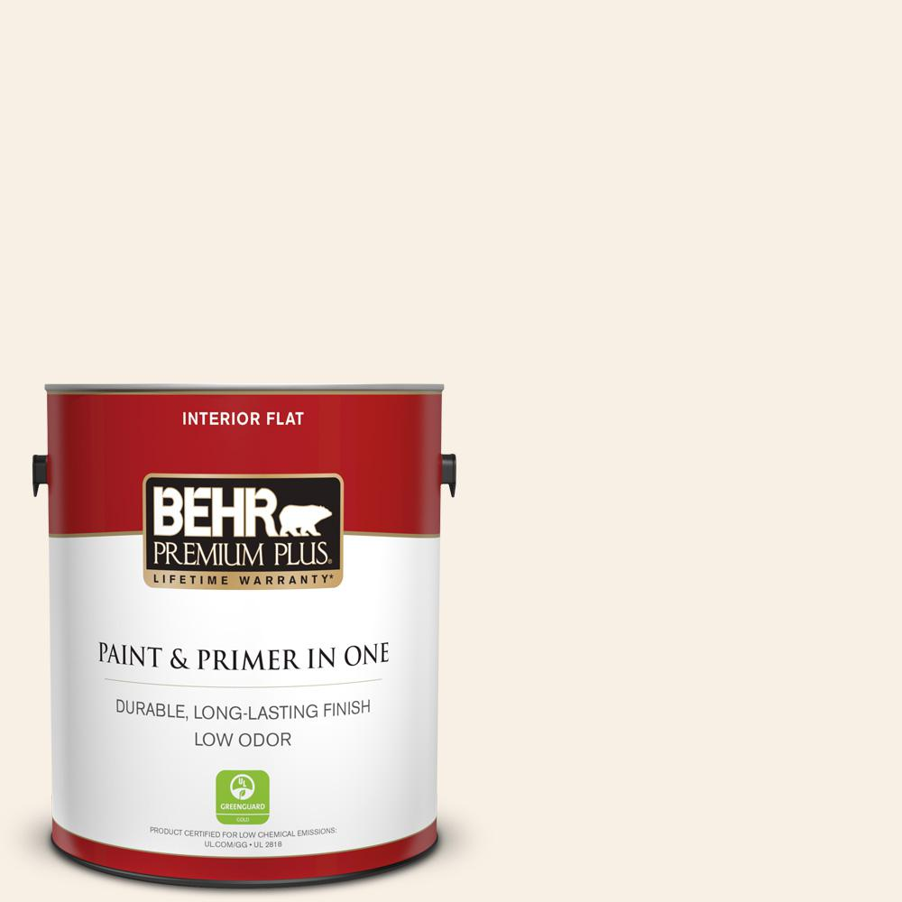 1 gal. #OR-W14 White Veil Flat Low Odor Interior Paint and