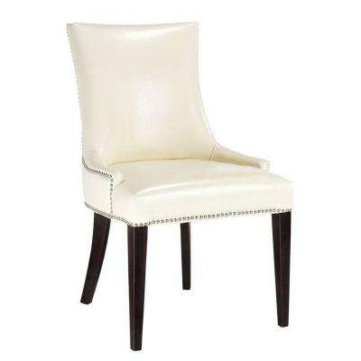 Becca Cream Leather Side Chair (Set of 2)
