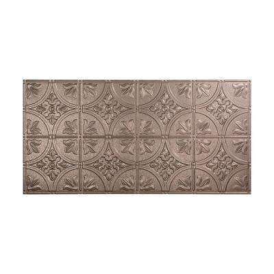 Traditional 2 - 2 ft. x 4 ft. Glue-up Ceiling Tile in Galvanized Steel
