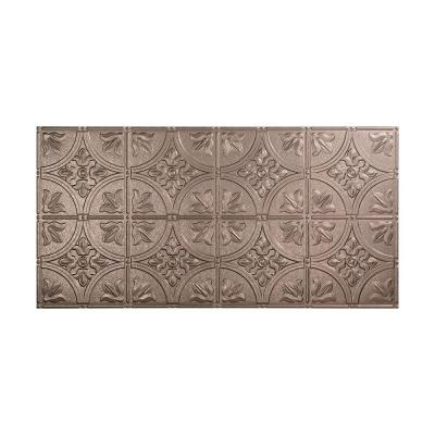 Traditional #2 2 ft. x 4 ft. Glue Up Vinyl Ceiling Tile in Galvanized Steel (40 sq. ft.)