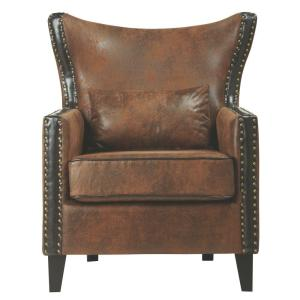 Home Decorators Collection Meloni Faux Suede Bonded Arm Chair Deals