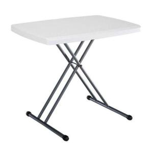 30 In. X 20 In. Personal White Folding Table