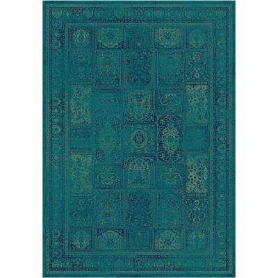 Vintage Turquoise/Multi 5 ft. 3 in. x 7 ft. 6 in. Area Rug