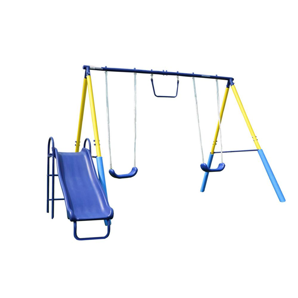 Sportspower My First Metal Swing Set Msc 4070 The Home Depot