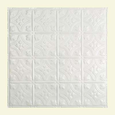 Hamilton 2 ft. x 2 ft. Nail-up Tin Ceiling Tile in Matte White