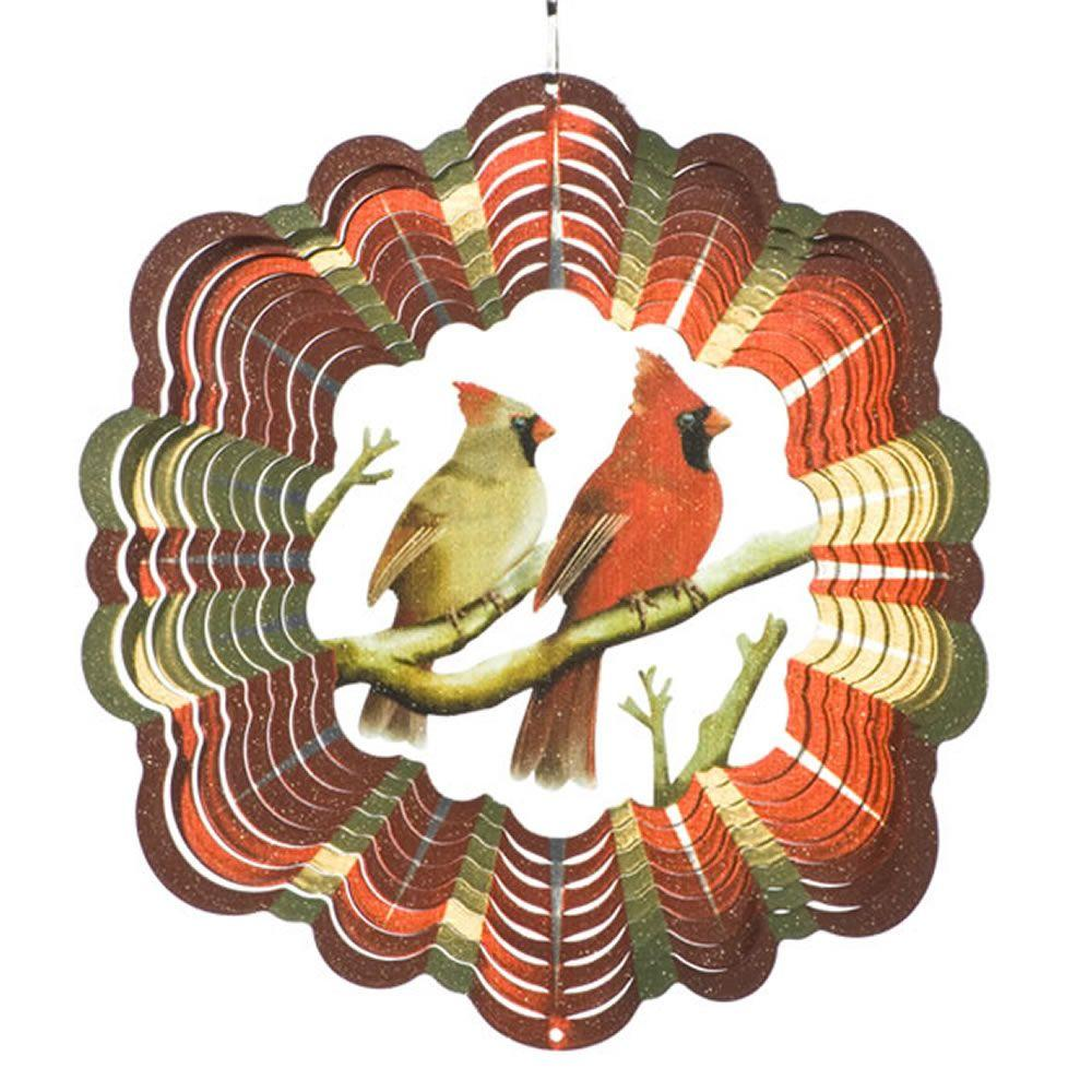 Iron Stop 10 in. Cardinal Pair Wind Spinner