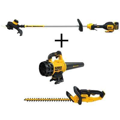 13 in. 20-Volt MAX Lithium-Ion Cordless String Trimmer and Bonus Leaf Blower and Hedge Trimmer with (2) 5Ah Batteries