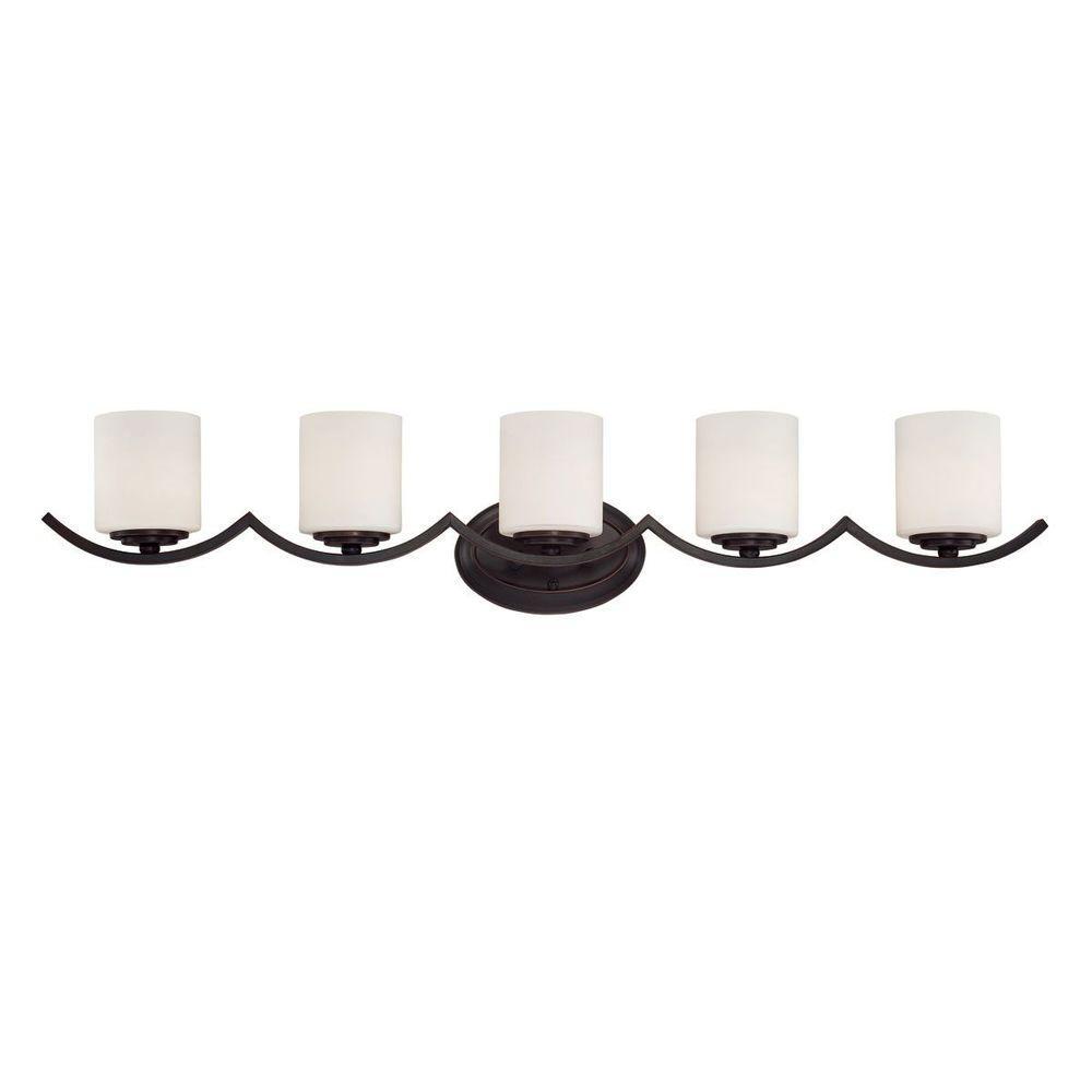 Eurofase Beam Collection 5-Light Oil Rubbed Bronze Bath Bar Light
