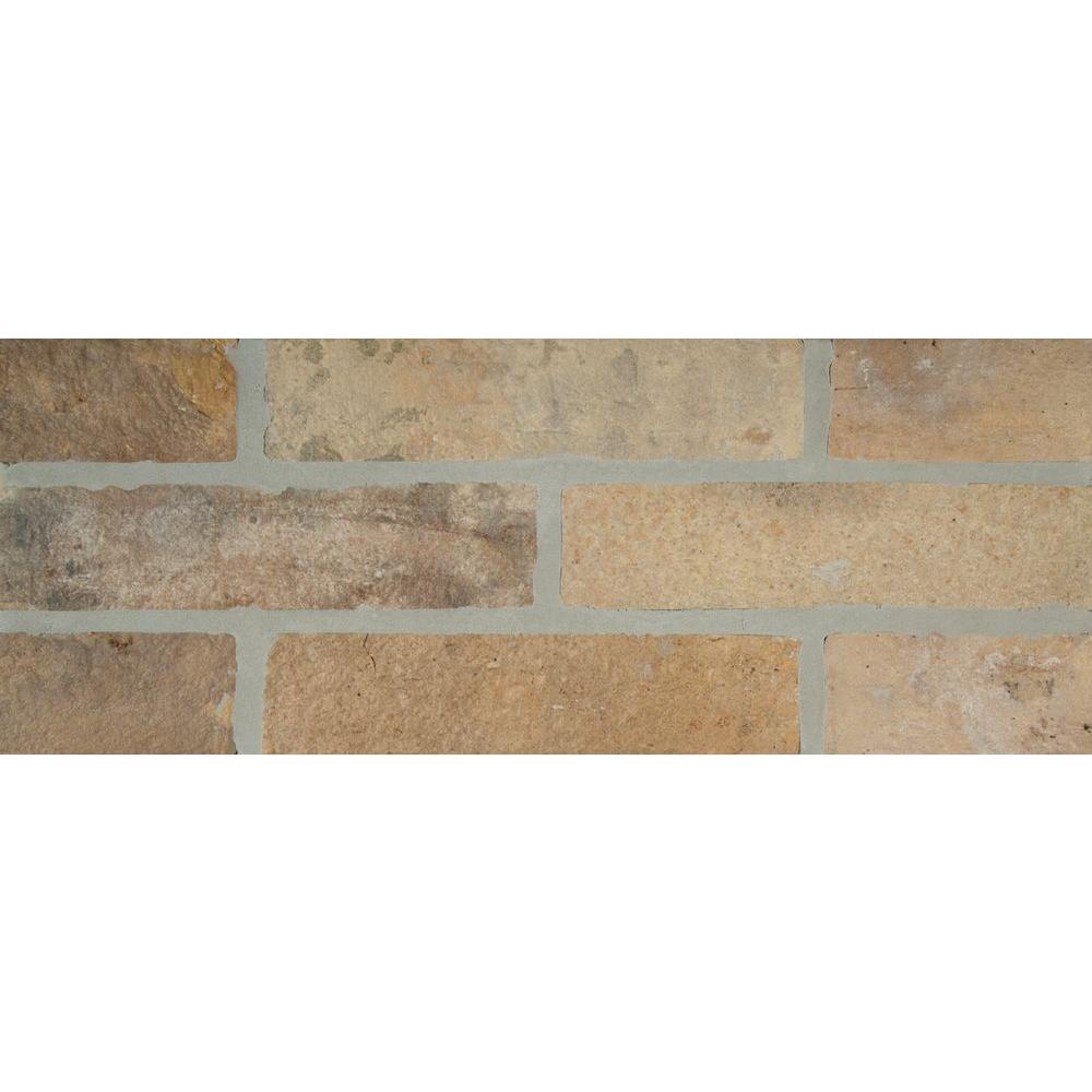 MSI Abbey Brick 2 1 3 in x 10 in Glazed Porcelain Floor and Wall