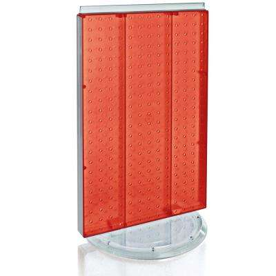 22 in. H x 8 in. W Pegboard Revolving Red