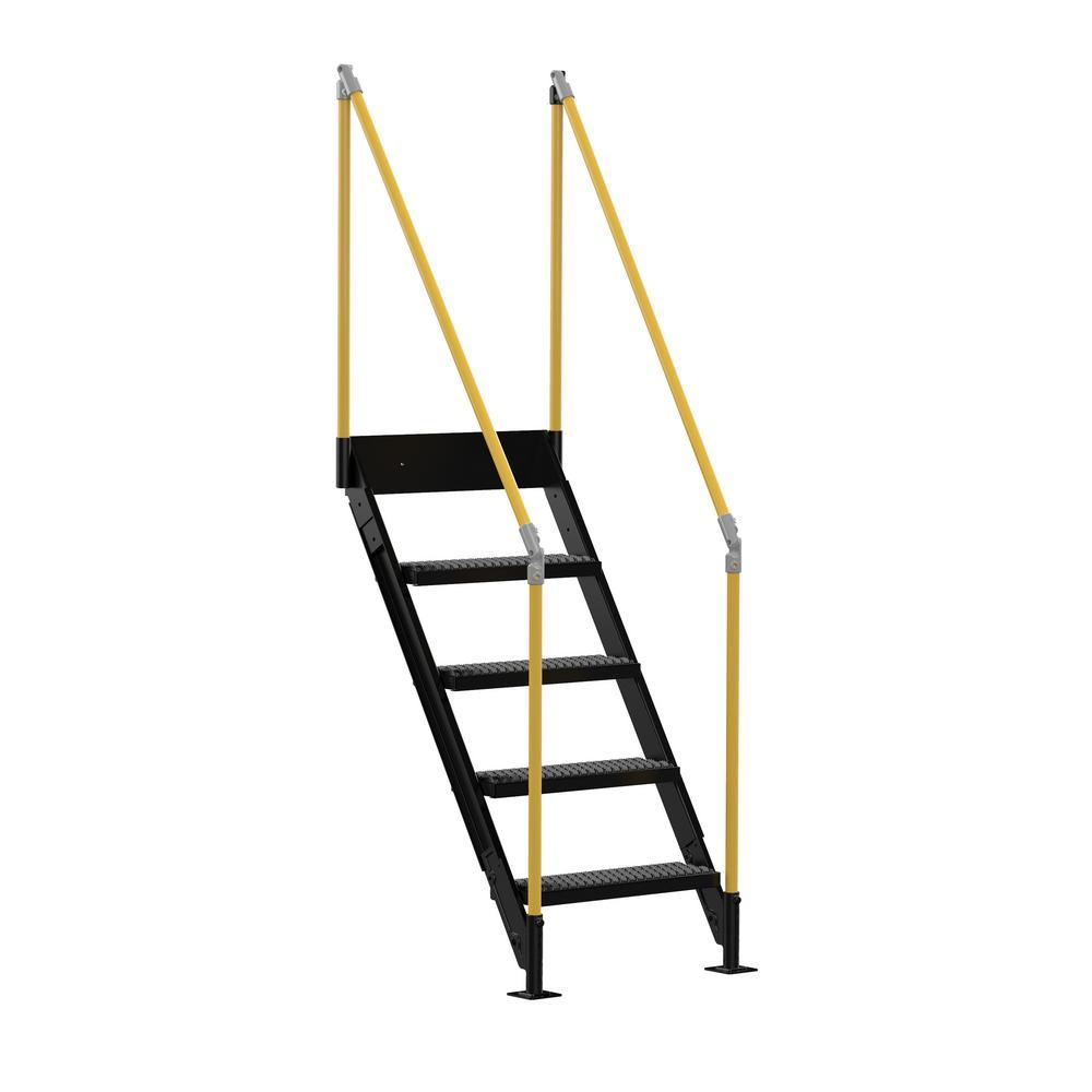 Vestil 4 Stair Sections for Modular Work Platform by Vestil