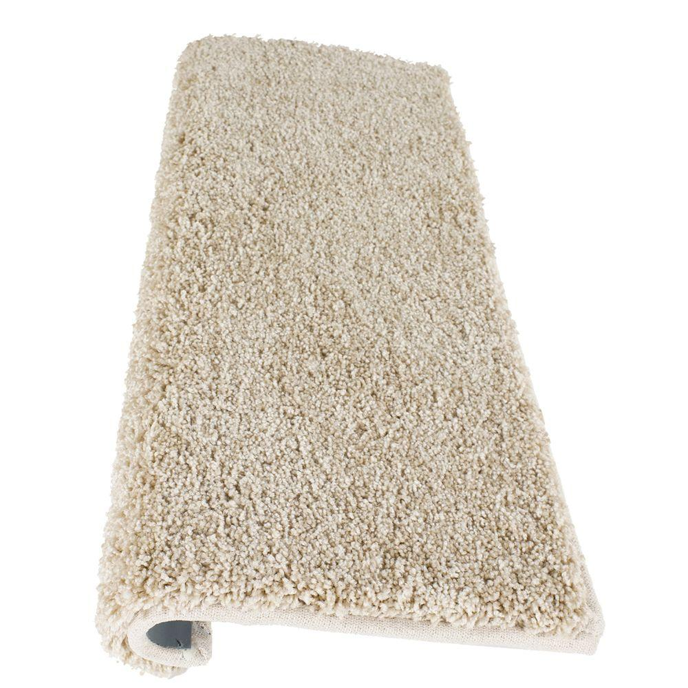 Simply Seamless Posh Pale Straw 10 in. x 27 in. Modern Bullnose Self Sticking Stair Tread