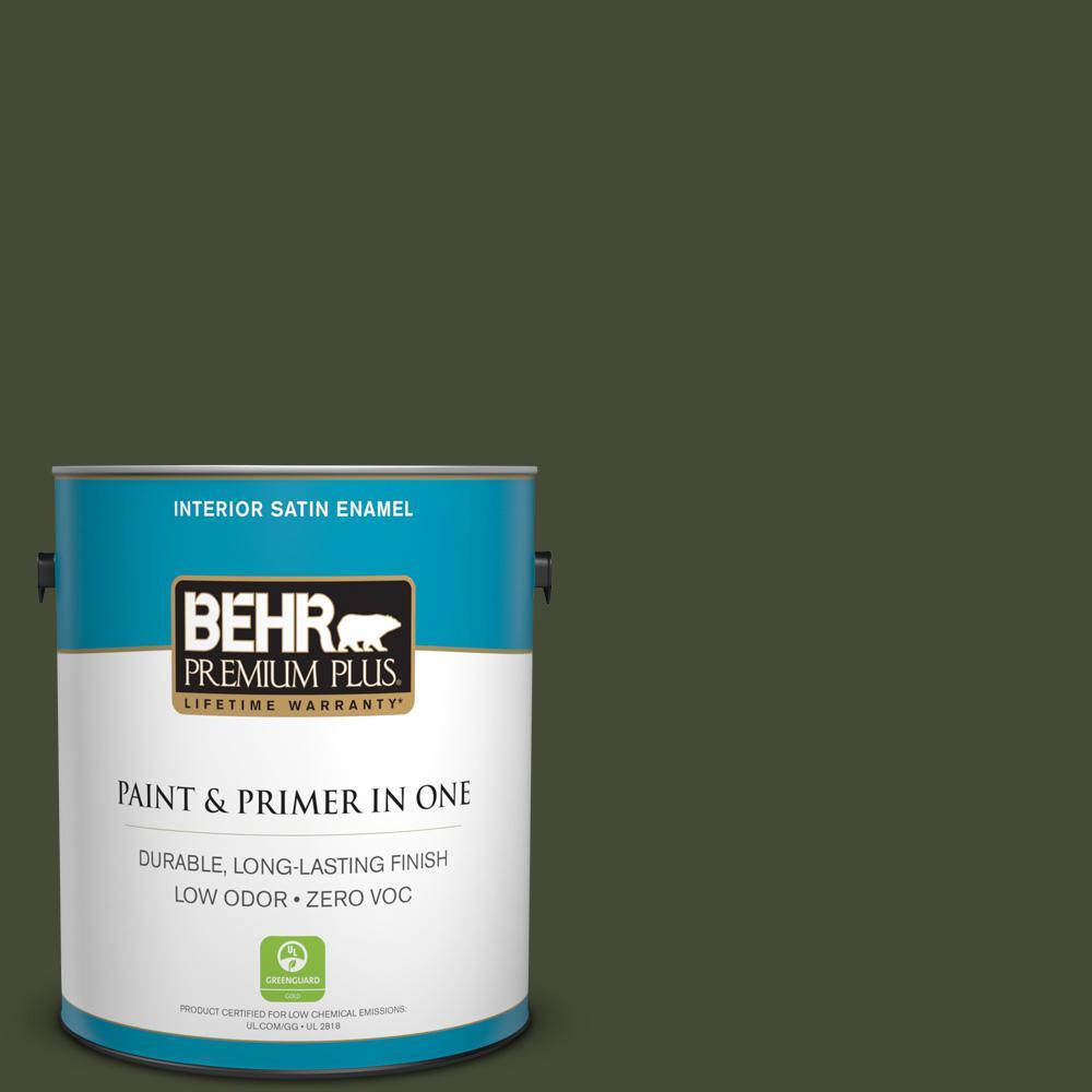 1-gal. #BXC-12 Deep Forest Satin Enamel Interior Paint