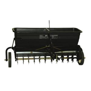 Click here to buy Agri-Fab 175 lb. Tow Spiker/Drop Spreader by Agri-Fab.