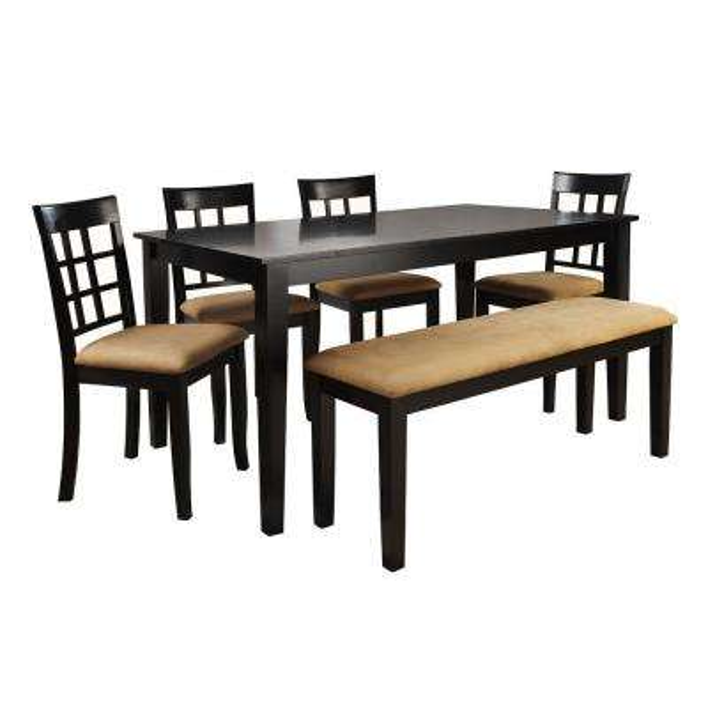 6 piece black dining set - Black Dining Room Furniture