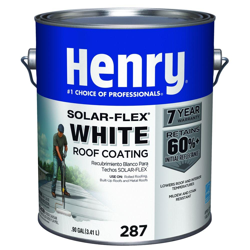 Henry 0 90 Gal 287 White Solarflex Roof Coating