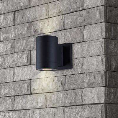 Low-Voltage 10-Watt Black Outdoor Integrated LED Wall Lantern Sconce