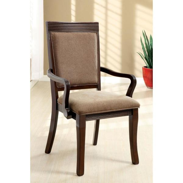 undefined Woodmont Brown Contemporary Style Arm Chair