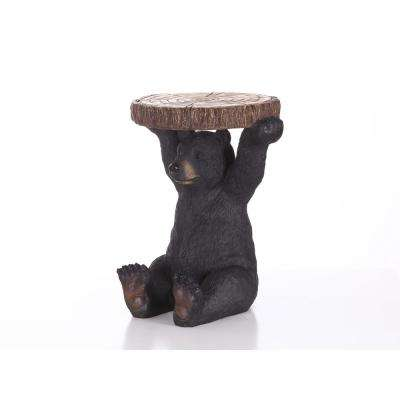 Black Bear Sitting Plant Stand 20 in. High