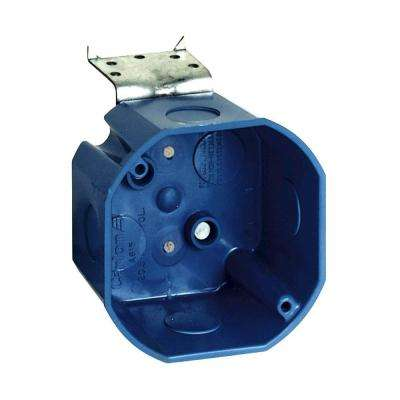4 in. New Work Octagon Ceiling Electrical Box with L-Bracket