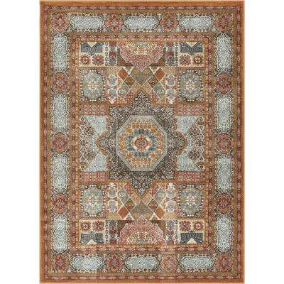 Laurent Fiatto Earth 8 ft. x 10 ft. Vintage Traditional Medallion Area Rug