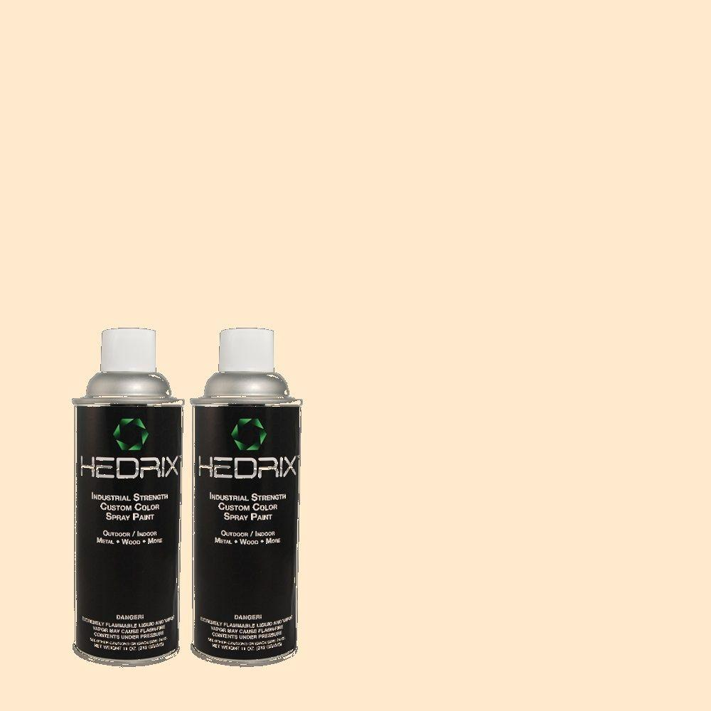 Hedrix 11 oz. Match of 1B17-1 Misty Peach Flat Custom Spray Paint (2-Pack)