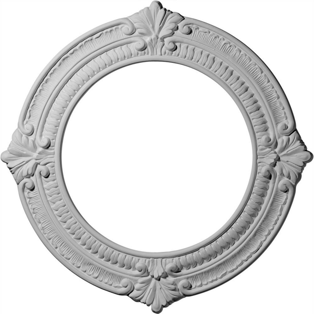 13-1/8 in. OD x 8 in. ID x 5/8 in. P (Fits Canopies up to 8 in.) Benson Ceiling Medallion