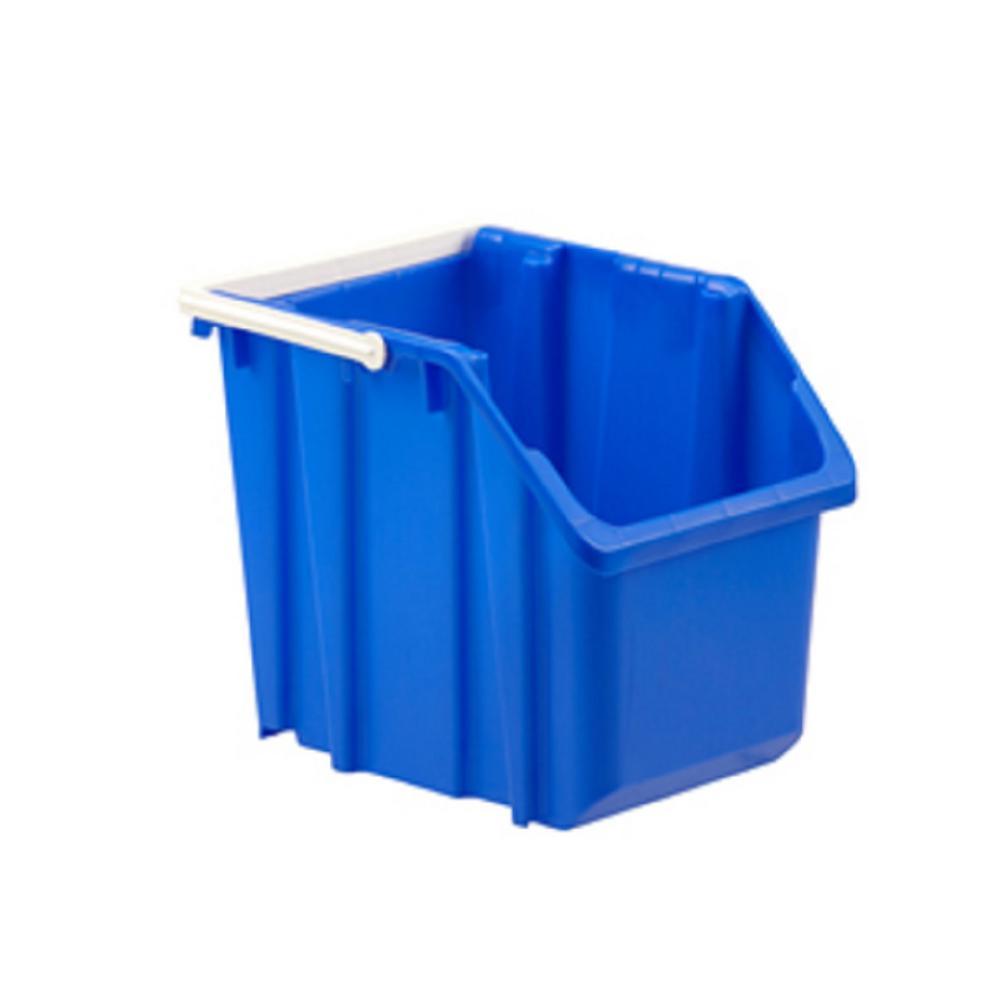 Blue Indoor Recycling/Storage Stackable/Nestable Bin-6 Gal