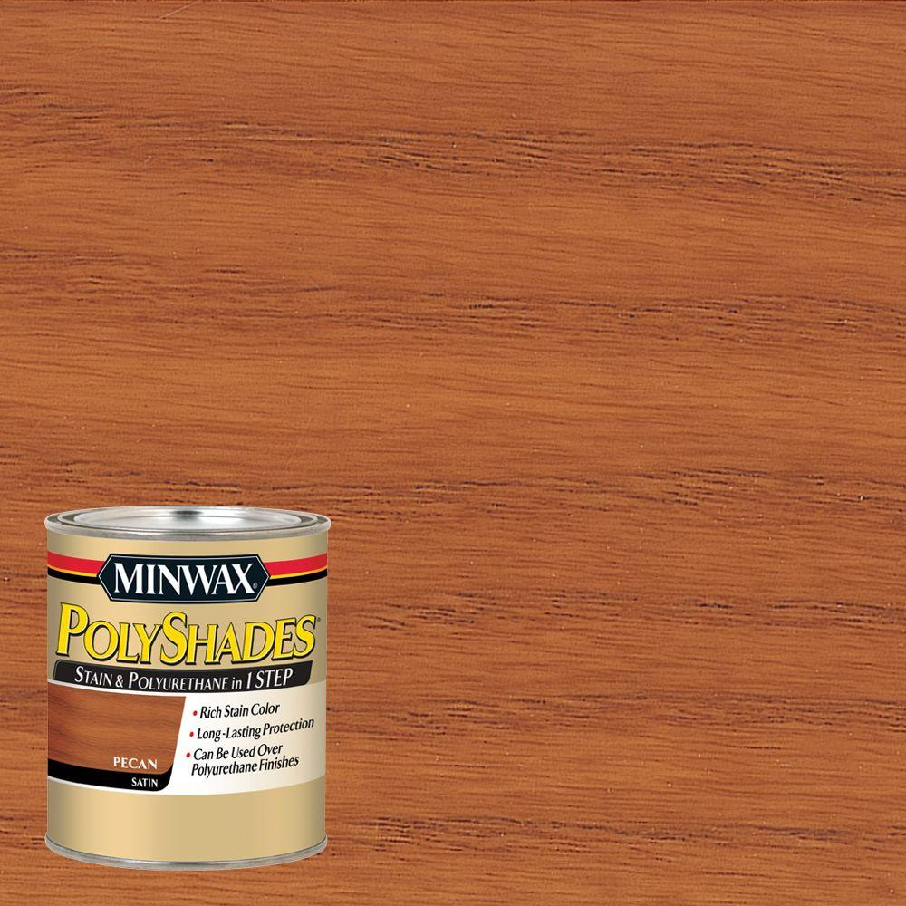 Minwax 1 Qt. PolyShades Pecan Satin 1 Step Interior Stain And  Polyurethane 61320444   The Home Depot