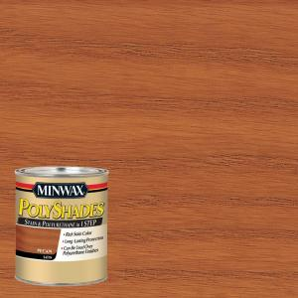 Minwax 1 Qt Polyshades Pecan Satin 1 Step Interior Stain