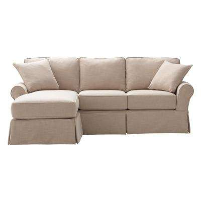 Mayfair 2-Piece Linen Pearl Sectional