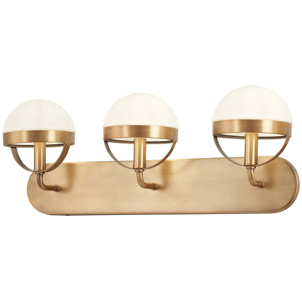 Minka Lavery Tannehill 3-Light Aged Brass Bath Light