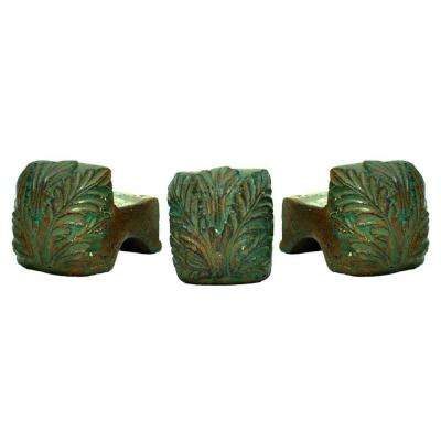 3-1/2 in. x 2-1/2 in. Pot Feet in Chocolate Finish (Set of 3)