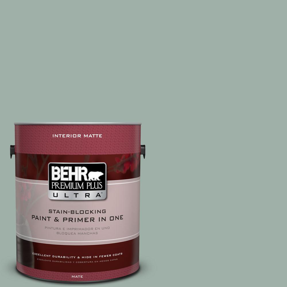 BEHR Premium Plus Ultra Home Decorators Collection 1 gal. #HDC-CT-22 Aged Jade Flat/Matte Interior Paint