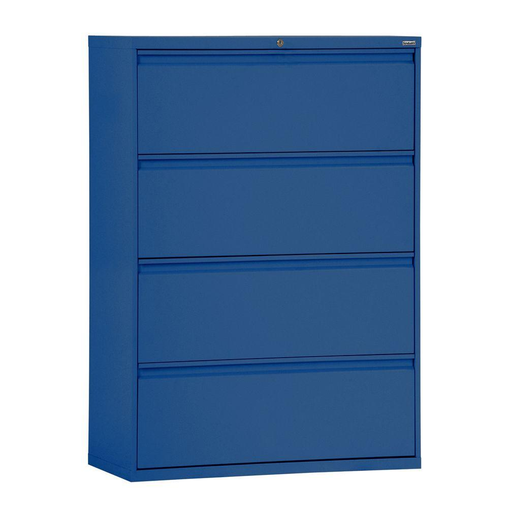 Beau W 4 Drawer Full Pull Lateral File Cabinet In