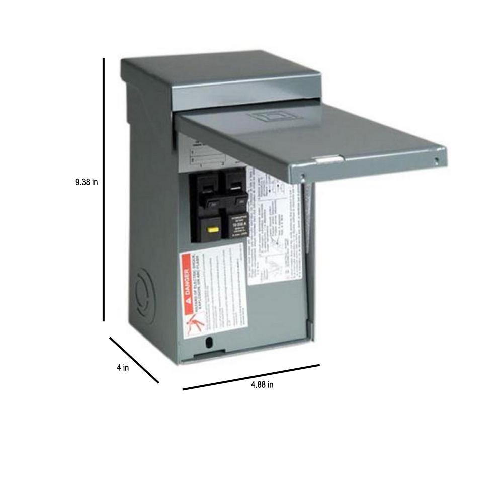 square d homeline 50 amp 2 space 4 circuit spa panel main lug load center Hot Tub GFCI Plug
