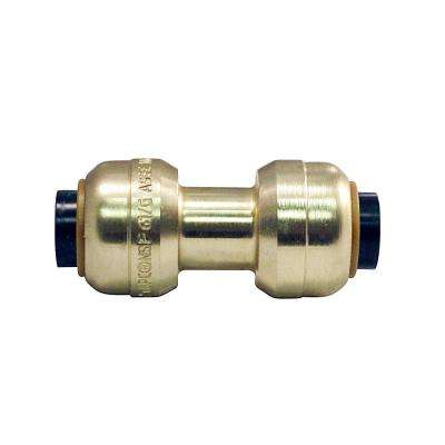 1/4 in. Brass Push-to-Connect Coupling
