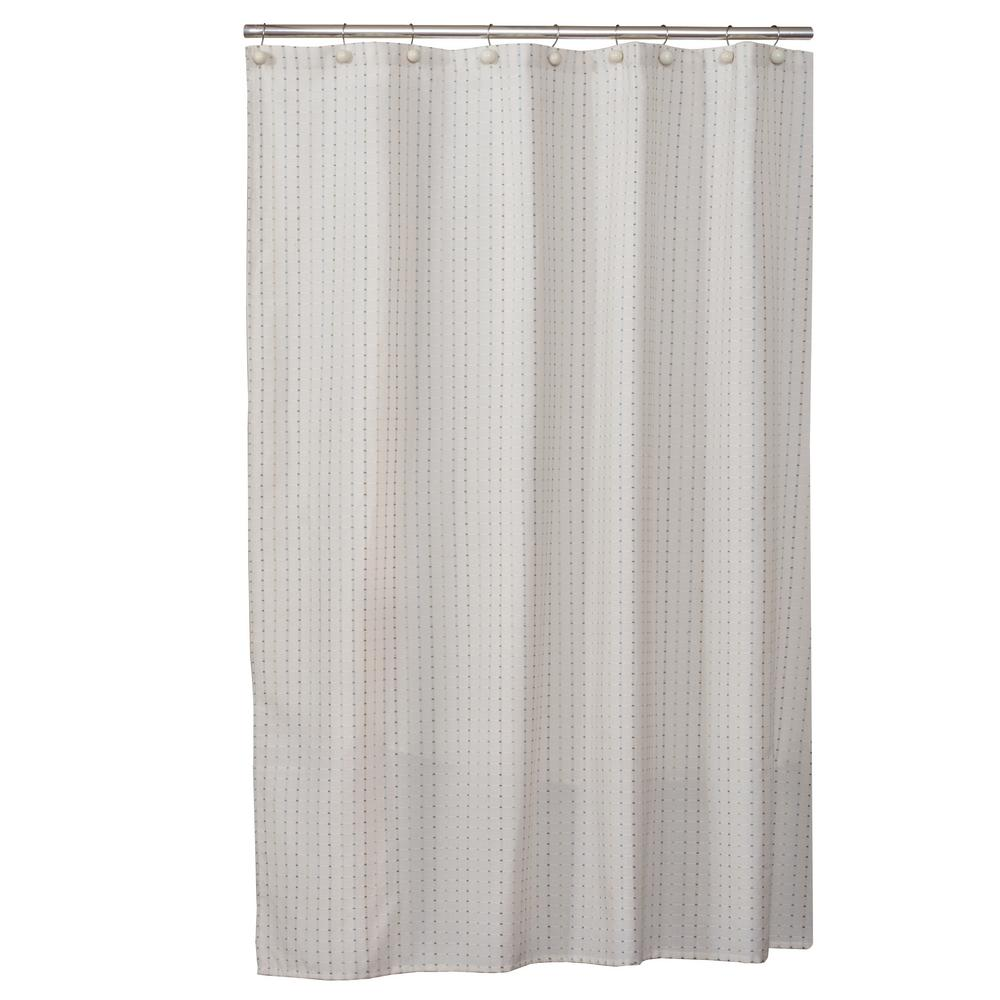 Cream Hopscotch Fabric Shower Curtain