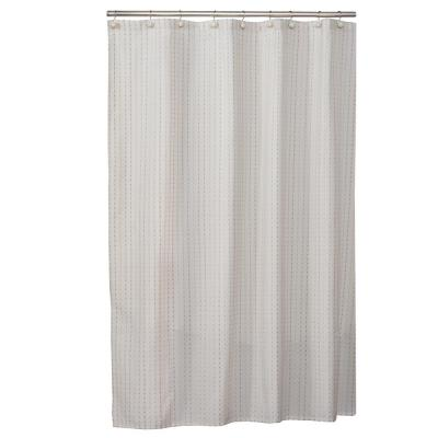 72 in. Cream Hopscotch Fabric Shower Curtain
