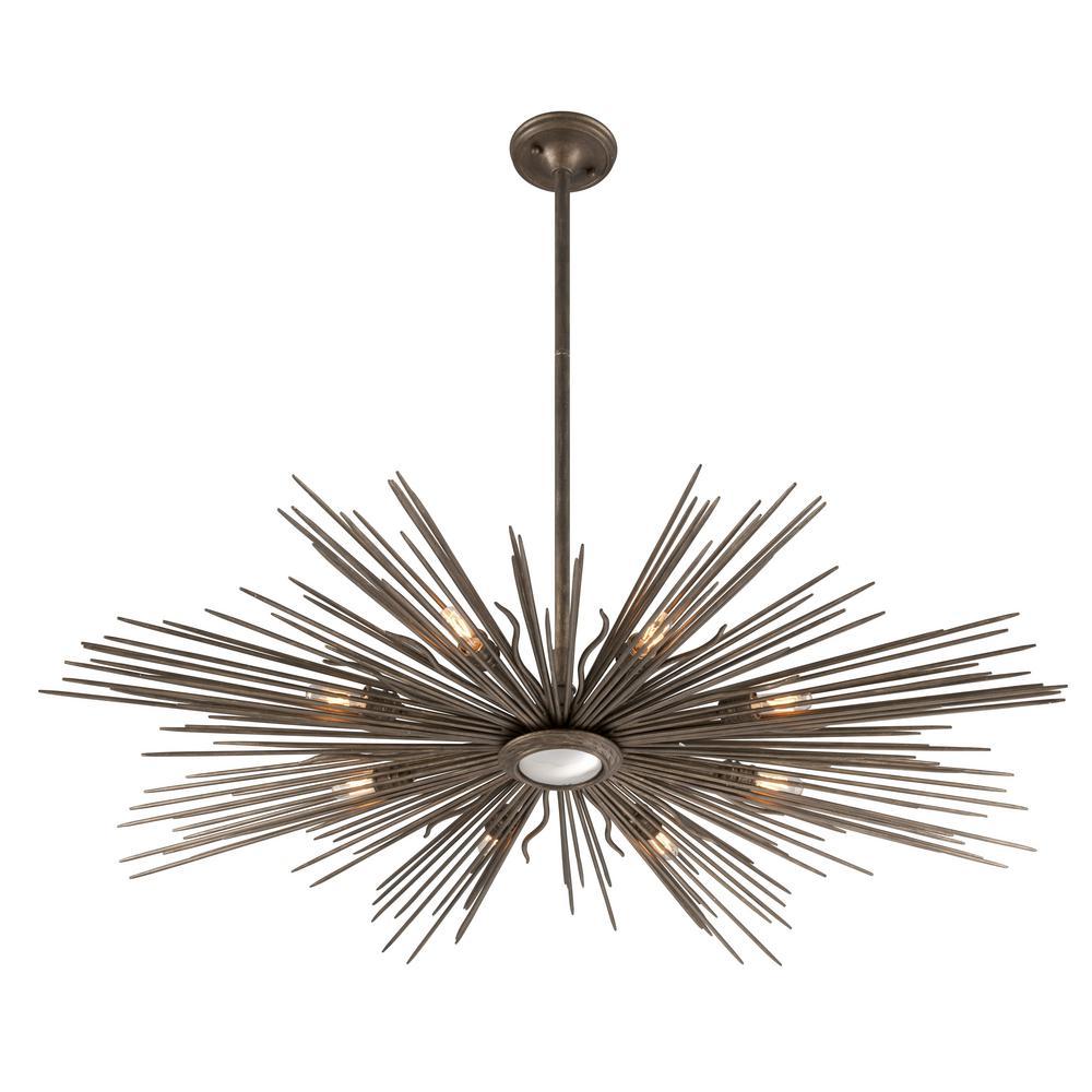 Blink 8-Light Light Cottage Bronze Outdoor Pendant