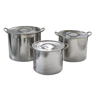 Deals on AmeriHome 6-Piece Stainless Steel with Lids Stock Pot Set